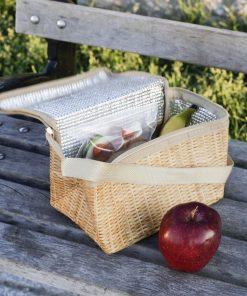 Pour transporter vos aliments chauds ou froidsMotif osier pour un style très natureAvec sa anse de transportPour les pique-niques ou au travail