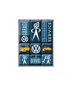 Magnets au design vintageUn style garage sur votre frigoLicence officielle Volkswagen