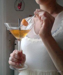 Préparez votre soirée avec ce set vintage verres à Martini. Composé de 2 verres