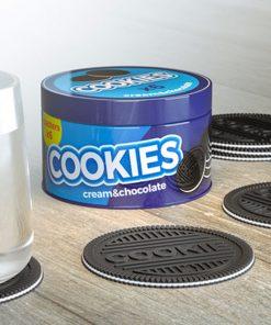 Pour les gourmandsProtégez votre tableA l'effigie du célèbre biscuit fourréDans un pot en métal