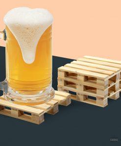 Ajoutez du style et une touche industrielle à votre table ! Buvez votre boisson préférée et posez votre verre sur une véritable représentation d'une palette en bois.