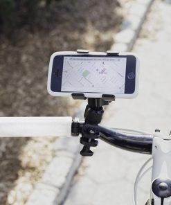 Accrochez en toute sécurité votre smartphone !Pour des belles balades en vélo sereines et connectées !Pour les smartphones jusqu'à 9 cm de largeur