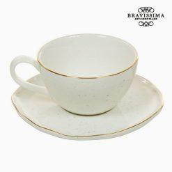 Tasse avec sous-tasse - Collection Queen Kitchen by Bravissima Kitchen