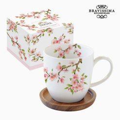 Tasse avec sous-tasse Porcelaine by Bravissima Kitchen
