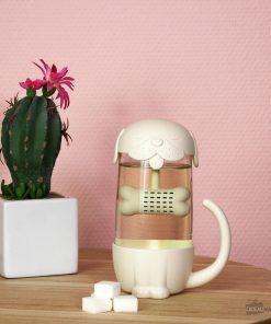 Cette tasse à thé chien avec infuseur sera idéale pour boire du thé en vrac !