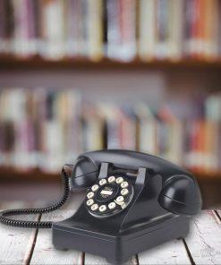Véritable téléphone rétro et réplique fidèle du modèle 302 de Western Electric lancé 1937 aux Etats-Unis