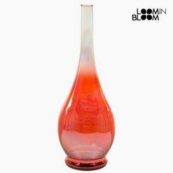 Vase en Verre Recyclé Rouge (14 x 14 x 40 cm) by Loom In Bloom