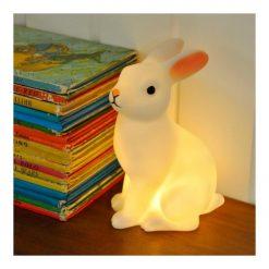 Partez pour un monde de douceur et de jolis rêves avec cette veilleuse lapin pour enfants à LED. Tout doux