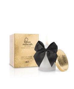 Bougie de massage embrassable - Chocolat Noir