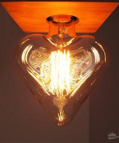 Ampoule rétro filament incandescent 40W (E27)Ambiance romantique et rétroEn forme de cœurBlanc chaud 12 cm de diamètre