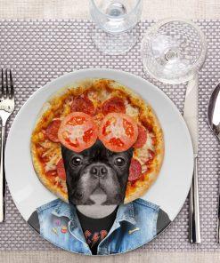 Du rock et de l'originalité dans votre assietteDécorez ce bouledogue grunge avec vos alimentsA déposer à la table d'un rockeurEn céramique