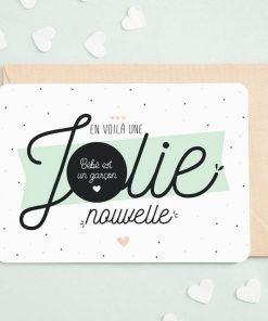 Comment annoncer le sexe de son futur bébé garçon ? Envoyer cette carte dont la réponse est à gratter par le destinataire !