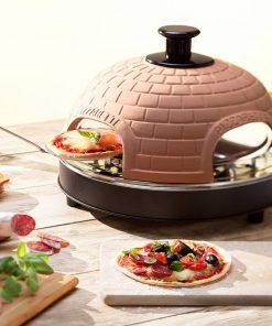 Idéal pour vos dîners entre amis ou en famille ! Faîtes vos mini-pizzas maison ! Contient : 1 Four à Mini Pizza Pizzarette 4p