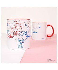 Buvez votre boisson préférée dans un mug romantique en céramique ! Contenance : 320 ml.