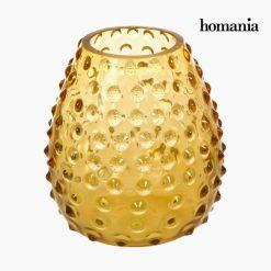 Vase Verre Ambre - Collection Crystal Colours Deco by Homania