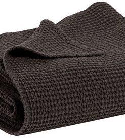 Jeté de lit Maïa carbone 240 x 260 Vivaraise