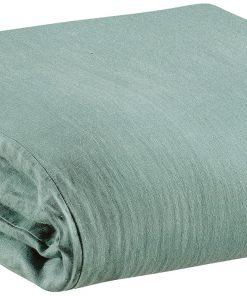 Housse de couette Stonewashed Zeff Vert de gris 140 x 200 Vivaraise