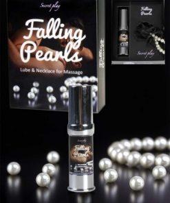 "sex toys - Sex shop - ""Falling pearls"" Lubrifiant silicone & collier de perles 3631"