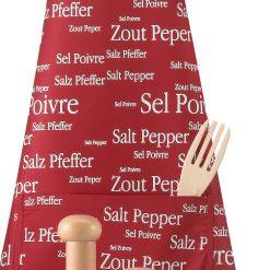 Tablier Sel & Poivre rouge Winkler