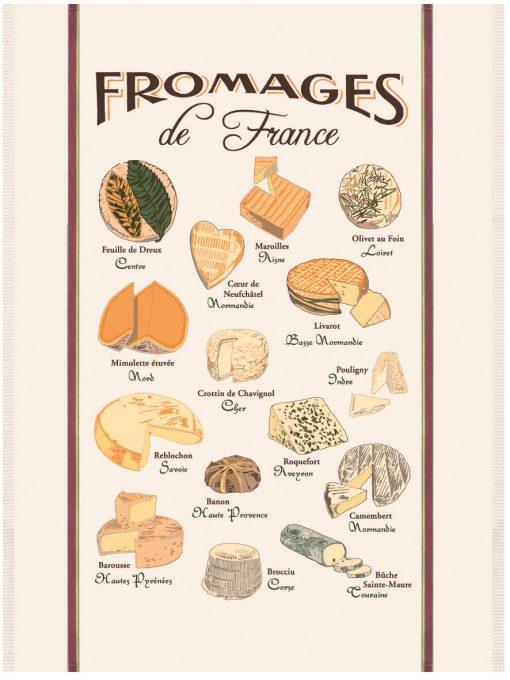 GRAND TORCHON PLANCHE FROMAGE DE France ECRU Torchons & Bouchons