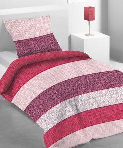 Parure de lit 1 personne Anga avec housse de couette et taie d'oreiller Imprimée 140 x 200 Les Ateliers du Linge