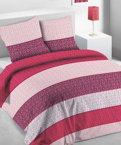 Parure de lit 2 personnes Anga avec housse de couette et taies d'oreiller Imprimée 220 x 240 Les Ateliers du Linge