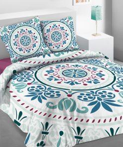 Parure de lit 2 personnnes Keraly avec housse de couette et taies d'oreiller Imprimée 240 x 220 Les Ateliers du Linge