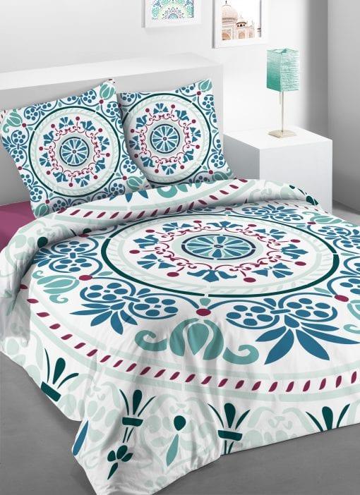 Parure de lit 2 personnes Keraly avec housse de couette et taies d'oreiller Imprimée 260 x 240 Les Ateliers du Linge