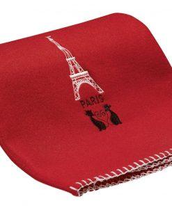 Plaid Tour Eiffel Cœur Rouge 100 X 150 Ça et Là