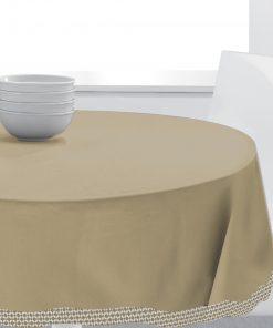 Nappe ronde Tosca Cement diamètre 150 cm Les Ateliers du Linge