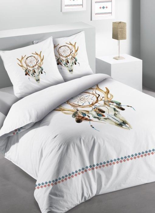 Parure de lit 2 personnes Cheyenne Imprimé 260 X 240 avec housse de couette et taie(s) d'oreiller Les Ateliers du Linge