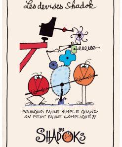 Torchon Shadoks Pourquoi faire simple Ecru 48 x 72 Torchons & Bouchons