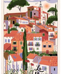 Torchon Village Provence Ecru 48 x 72 Torchons & Bouchons