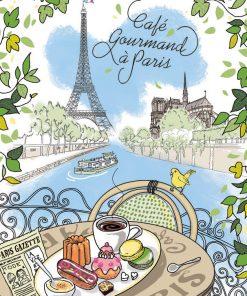 Torchon Cafe Gourmand Ecru 48 X 72 Torchons & Bouchons