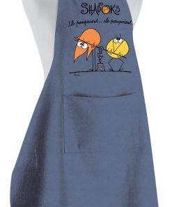 Tablier de cuisine Shadoks Ils pompaient Jeans 90 x 72 Torchons & Bouchons