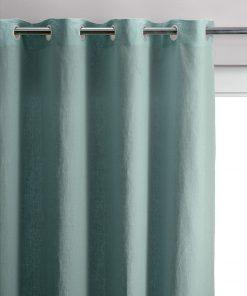 Rideau stonewashed Zeff Vert de gris 140 x 280 Vivaraise