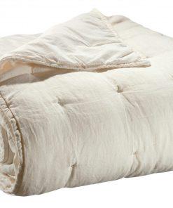 Jeté de lit stonewashed Zeff Craie 240 x 260 Vivaraise