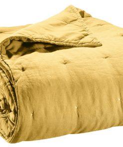Jeté de lit stonewashed Zeff Absynthe 240 x 260 Vivaraise