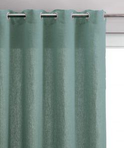Rideau voile Zeff Vert de gris 140 x 280 Vivaraise