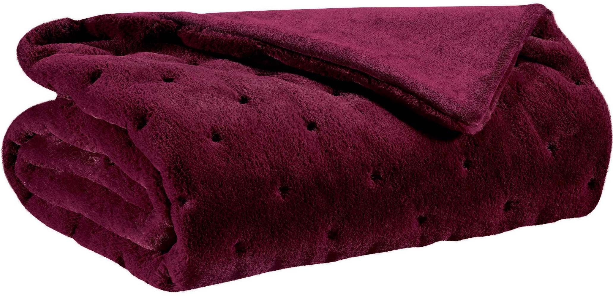 couvre lit yana lie de vin 230 x 250. Black Bedroom Furniture Sets. Home Design Ideas