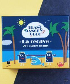 Complétez votre jeu initial Blanc Manger Coco avec l'extension La Recave !200 Cartes bonus : 40 Cartes Questions et 160 Cartes Réponses !