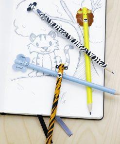 4 Crayons de papier animaux : 1 lion