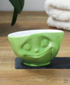 Buvez une bonne soupe ou boisson chaude dans un grand bol original et heureux !Passe au micro-ondes et au lave-vaisselle ! Grand bol de 500 ml en porcelaine.