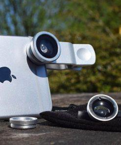 3 lentilles compris dans le kit pour selfie : grand angle