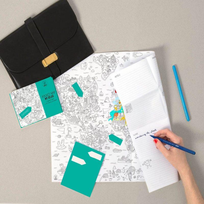 Plan de poche en papier fabriqué en France