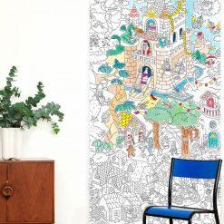 Coloriez diverses légendes ! Poster géant (100 x 180 cm) fait en France.