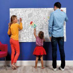 Coloriez la ville de Londres ! Poster géant (100 x 180 cm) fait en France.