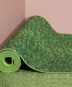 Tapis de yoga moelleux avec hanse de transport pour être zen n'importe ou !
