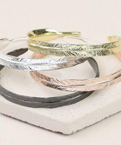 Bracelet réglable en métal plaqué or 18ct ou argent ! 4 Couleurs au choix pour sublimer votre tenue.