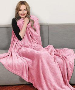Plaid doux et brillant en polyester !